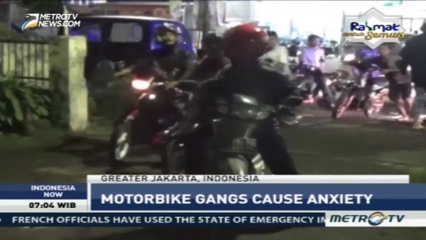 Motorbike Gangs Cause Anxiety in Jakarta