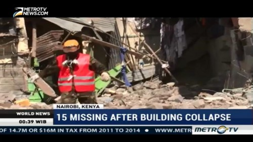 15 Missing After Building Collapse in Kenyan