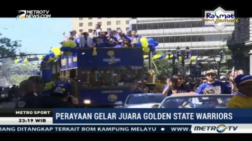 Golden State Warriors Gelar Parade Kemengan di California