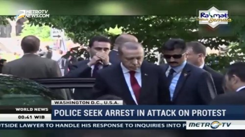 Washington's Police Seek Arrest in Attack on Anti-Erdogan Protest