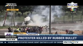 Rubber Bullets Fired on Venezuelan Protesters, 1 Killed