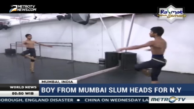 Boy From Mumbai Slum Heads for New York
