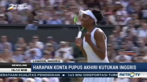 Venus Williams Jumpa Muguruza di Final Wimbledon 2017