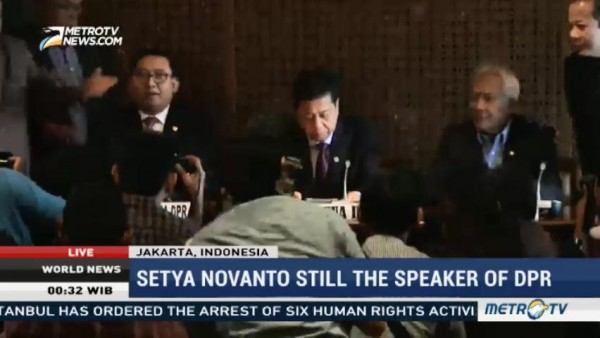 Setya Novanto Still The Speaker of DPR
