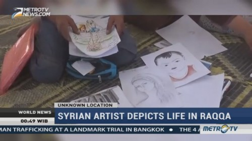 Syrian Artist Depicts Life in Raqqa