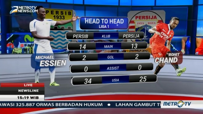 <i>Head to Head</i> Persib vs Persija