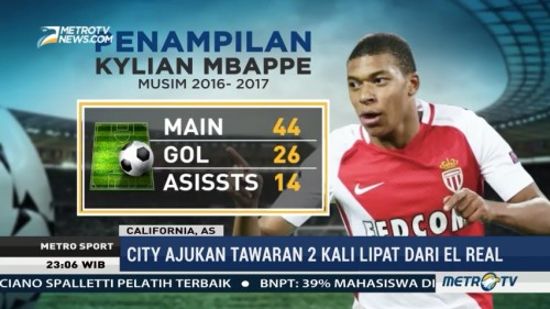 Manchester City & Real Madrid Berebut Mbappe