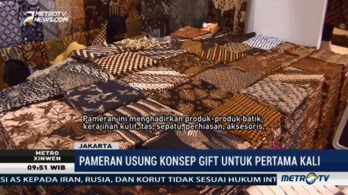 Pameran Indonesia Craft, Gift and Batik 2017 Resmi Dibuka
