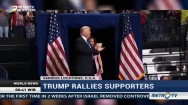 Trump Rallies Supporters Amid a Chaotic Week in Washington