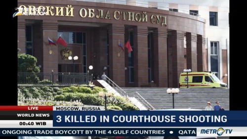 3 Killed in Shooting on Moscow Courthouse