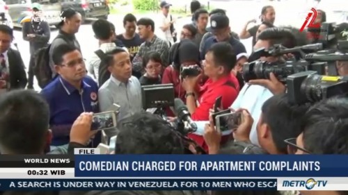 Indonesian Comedian Charged for Apartment Complaints