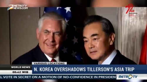 North Korea Overshadows Tillerson's Asia Trip