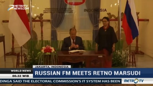 The Meeting of Indonesian-Russian Foreign Minister