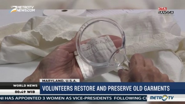 Volunteers Restore and Preserve Old Garments in Maryland