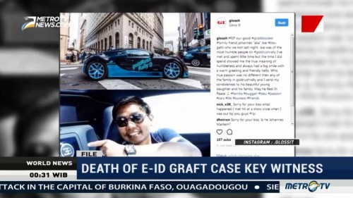 Death of E-ID Graft Case Key Witness