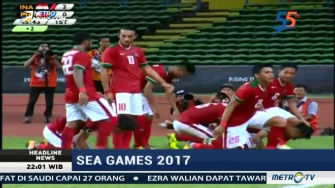 SEA Games 2017, Timnas U-22 Taklukkan Filipina 3-0