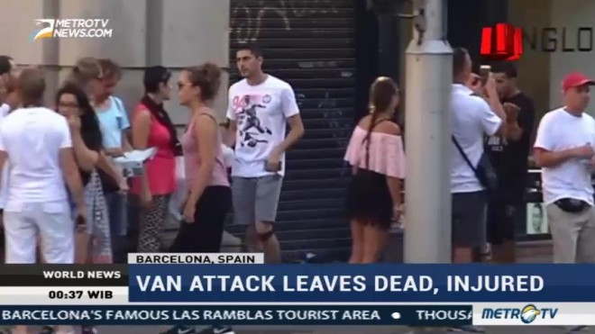 Barcelona Terror Attack: Van Strikes Crowd in Las Ramblas