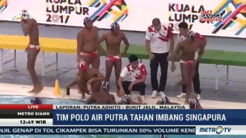 Polo Air Putra Indonesia Tahan imbang Singapura