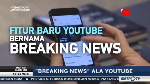 Breaking News ala YouTube