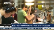Electric Guitar Manufacturer Stays Plugged