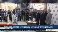 Record Setting NASA Astronaut Return to Earth