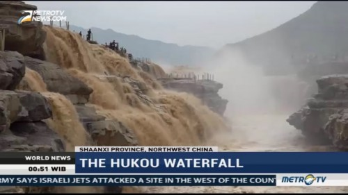 The Magnificent View of Hukou Waterfall