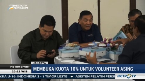 INASGOC Buka Pendaftaran Online Volunteer Asian Games 2018