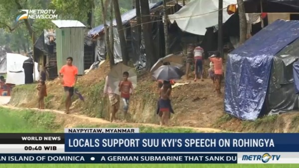 Locals Support Suu Kyi's Speech on Rohingya
