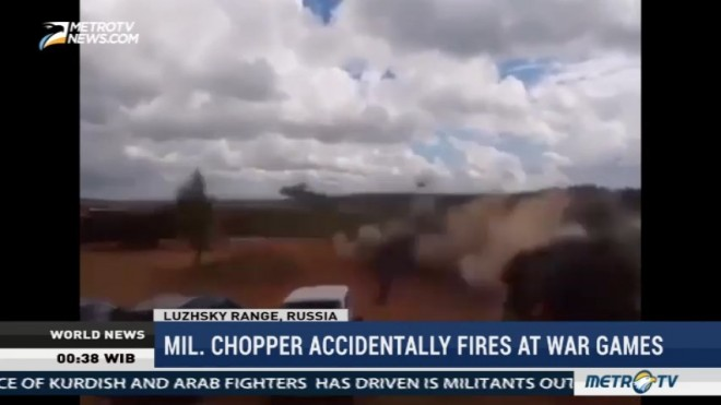 Russian Chopper Accidentally Fires