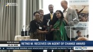 Foreign Minister Retno Marsudi Receives UN Agent of Change award