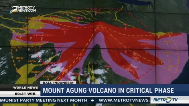Mount Agung Volcano in Critical Phase