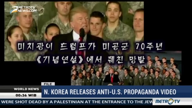 North Korea Releases Anti US Propaganda Video