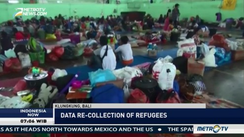 Data of Refugees Mount Agung is Being Recollected