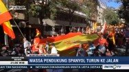 Tolak Referendum Catalunya, Massa Long March Keliling Kota Barcelona