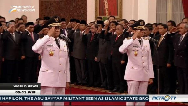 Anies-Sandi Inaugurated as Governor & Deputy