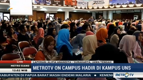 BNPT Turut Hadiri Metro TV on Campus di UNS