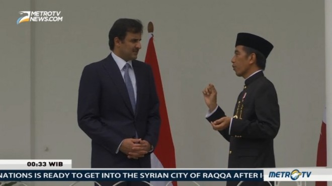 Qatar Emir Visits Indonesia