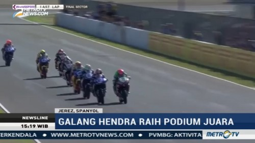 Galang Hendra Raih Podium Juara di World Supersport 300