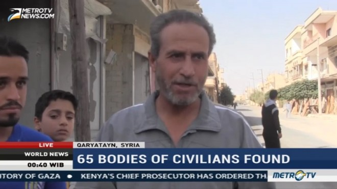 65 Bodies of Civilians Found in Syrian Town Taken from IS