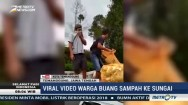 Viral Video Warga Temanggung Buang Sampah ke Sungai