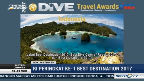 Indonesia Raih Penghargaan Dive Travel Award 2017