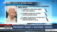 President Names 4 National Heroes