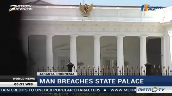 Man Breaches State Palace