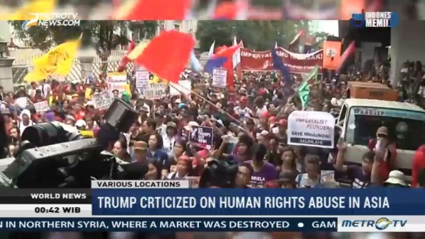 Trump Criticized on Human Rights Abuse in Asia