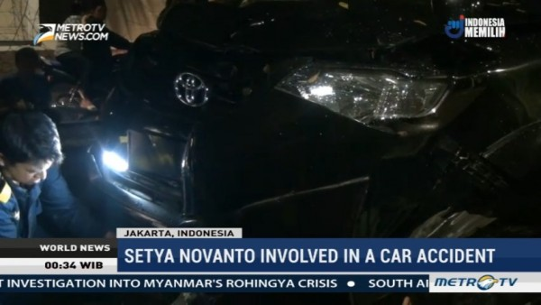 Setya Novanto Involved in a Car Accident