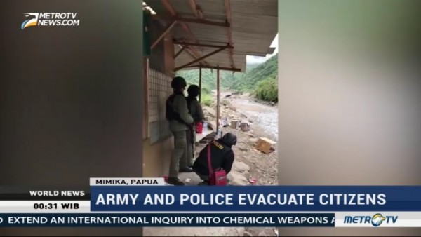 Army and Police Free Citizens Held Hostage by Gunmen in Papua