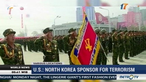 US: North Korea Sponsor for Terrorism