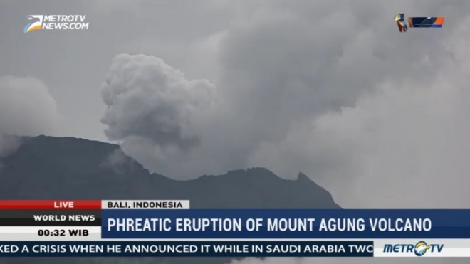 Phreatic Eruption of Mount Agung Volcano