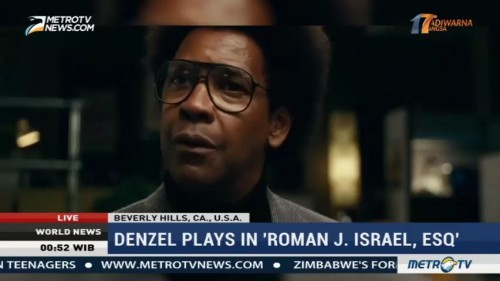 Denzel Washington Plays in 'Roman J Israel, Esq'