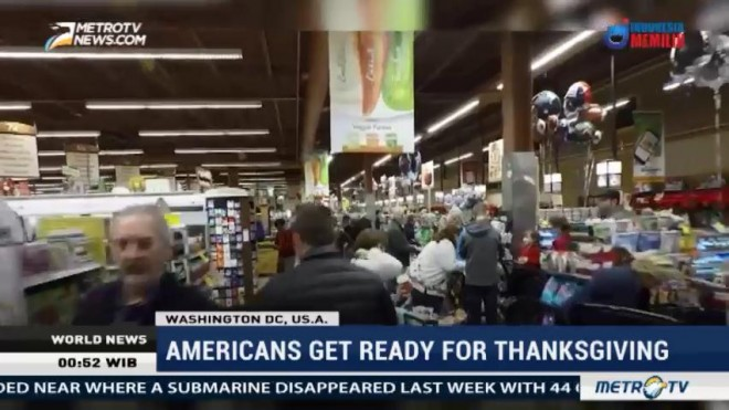 Americans Get Ready for Thanksgiving